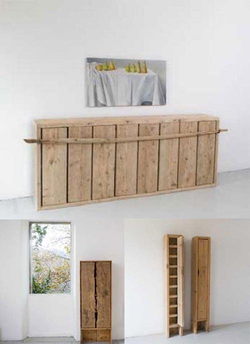 armarios katrin arens en madera natural sin teñir