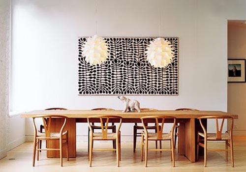 mesa madera sillas carl hansen