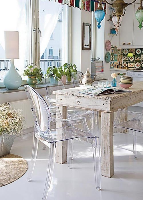mesa madera tablones decapada