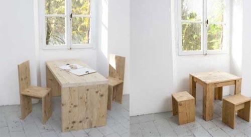 mesas sillas maderas naturales