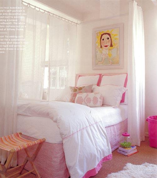 habitacion niña rosa