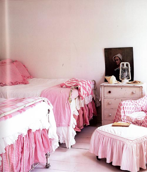 habitacion niña rosa telas provenza