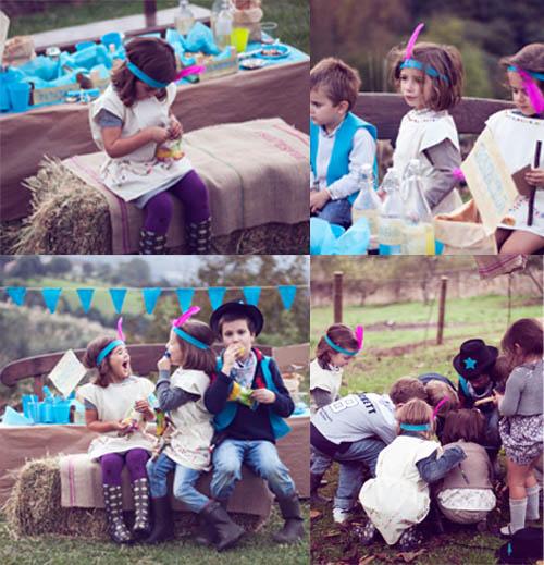 cumpleaños niños disfraz vaquero caras pintadas fiesta cumpleaños infantil
