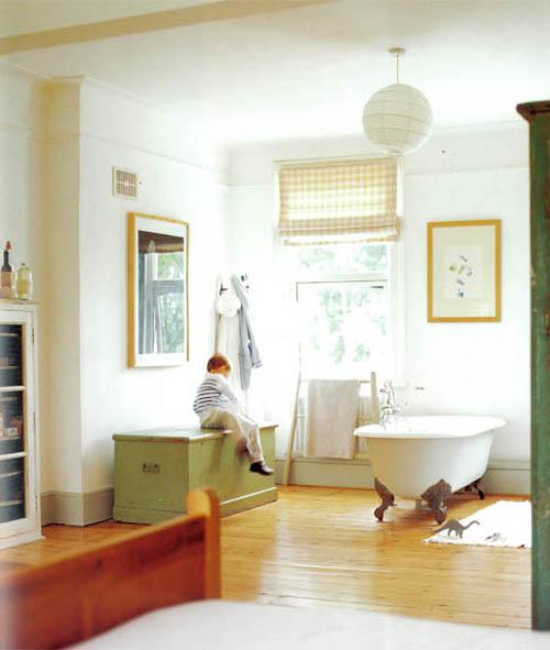 Baño Blanco Suelo Madera:Cuartos de baño con encanto « escarabajos bichos y mariposas