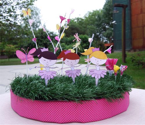Decoracion mesa por pistacho y terr n de az car escarabajos bichos y mariposas - Adornar mesas de comunion ...