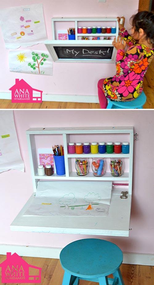Mesas para hacer los deberes escarabajos bichos y mariposas - Ideas para organizar juguetes ninos ...